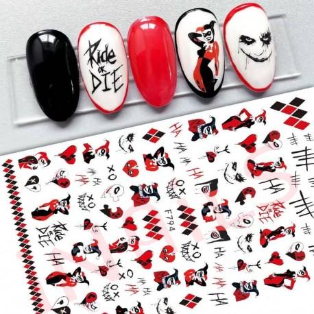 Nail stickers halloween F794