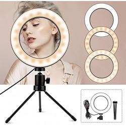 LAMPADA LED RING da tavolo